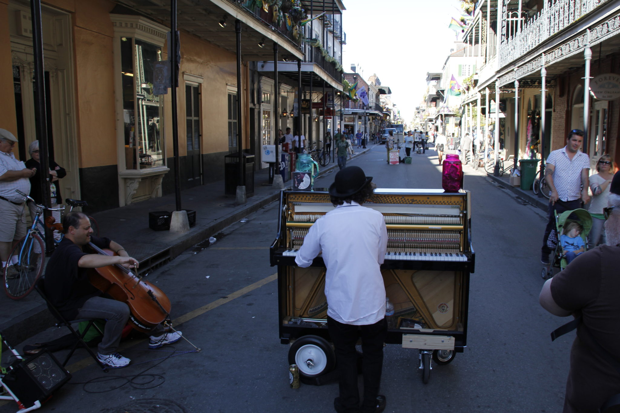New Orleans, French Quarter, Piano, Straßenmusik, USA