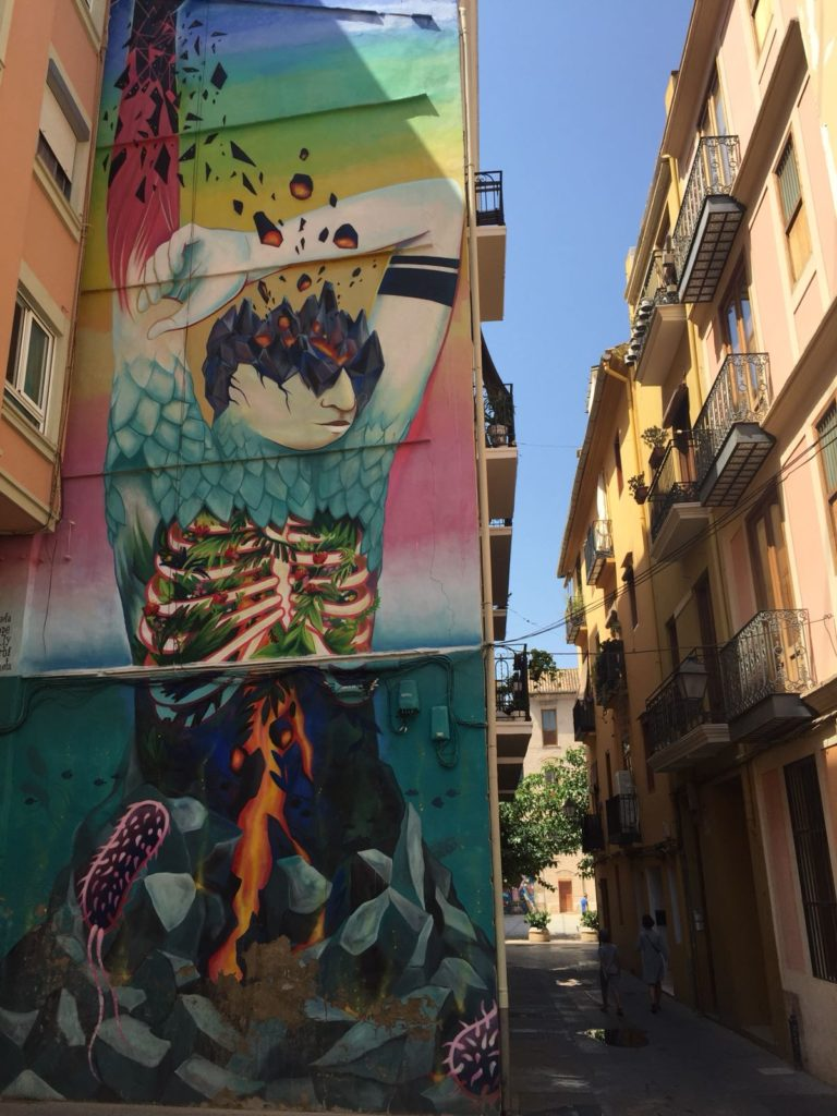 Streetart, Valencia, Spanien