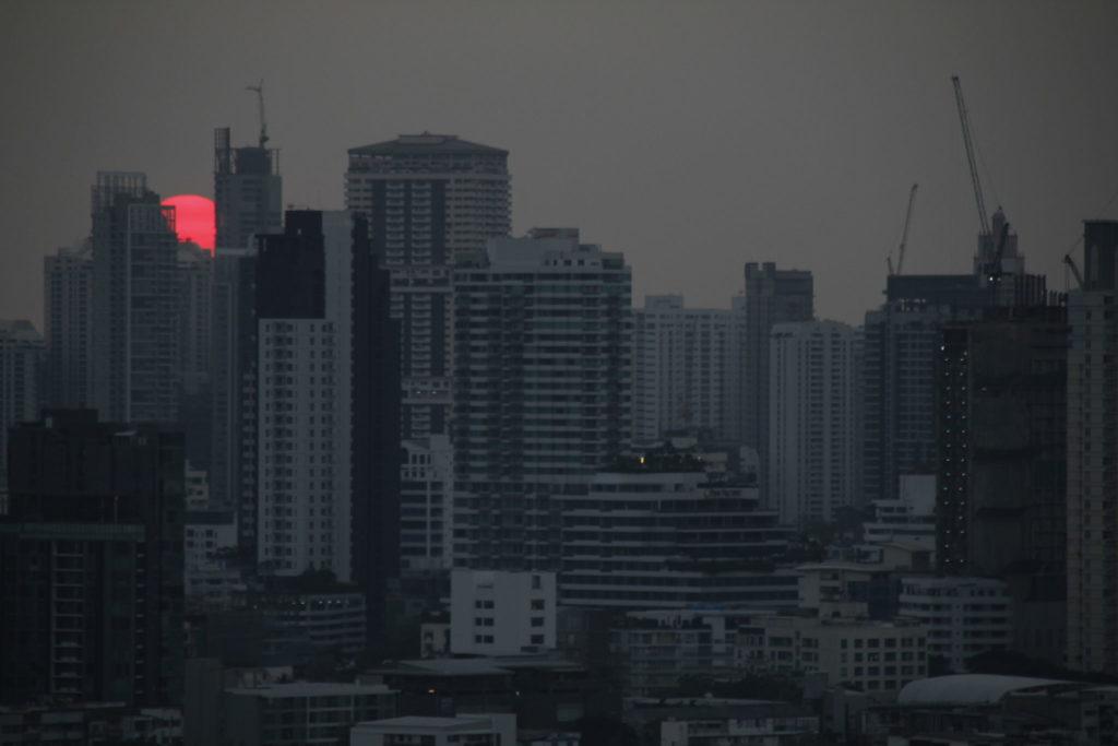 Bangkok, Thailand, Sonnenuntergang