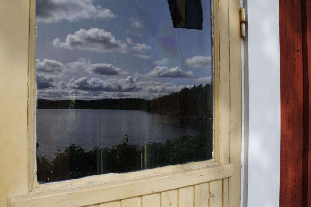 Schweden, Haus, rot, See, Himmel, Urlaub