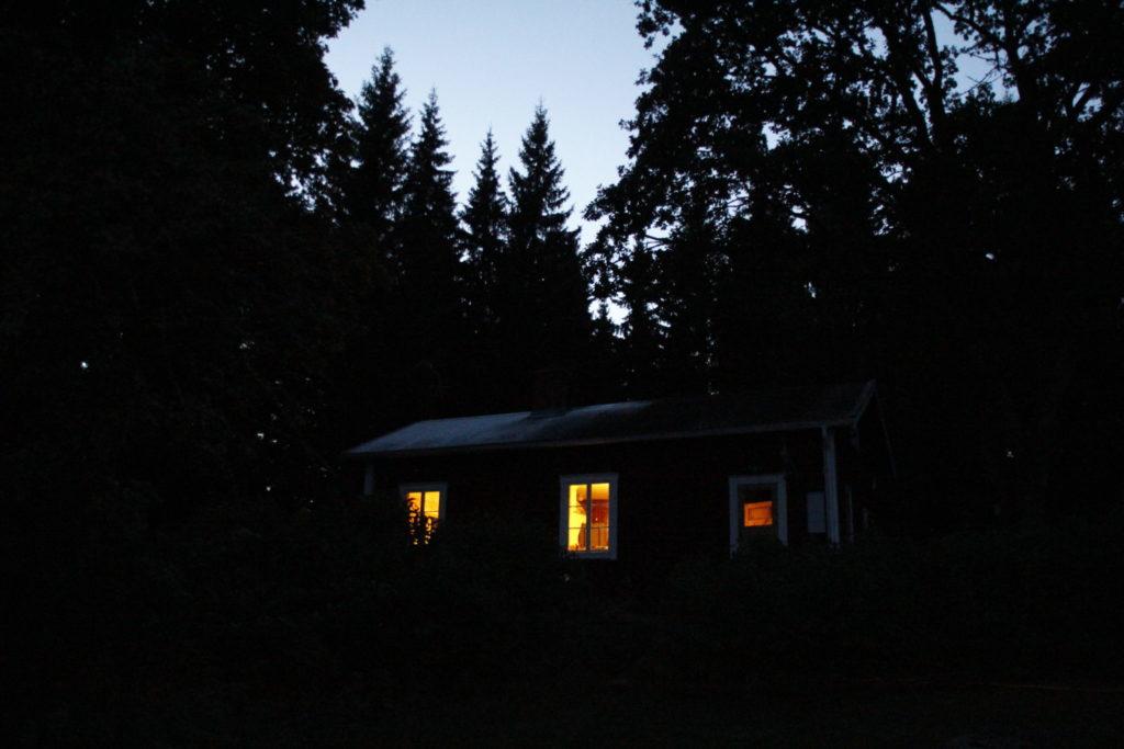 Schweden, Haus, Nacht