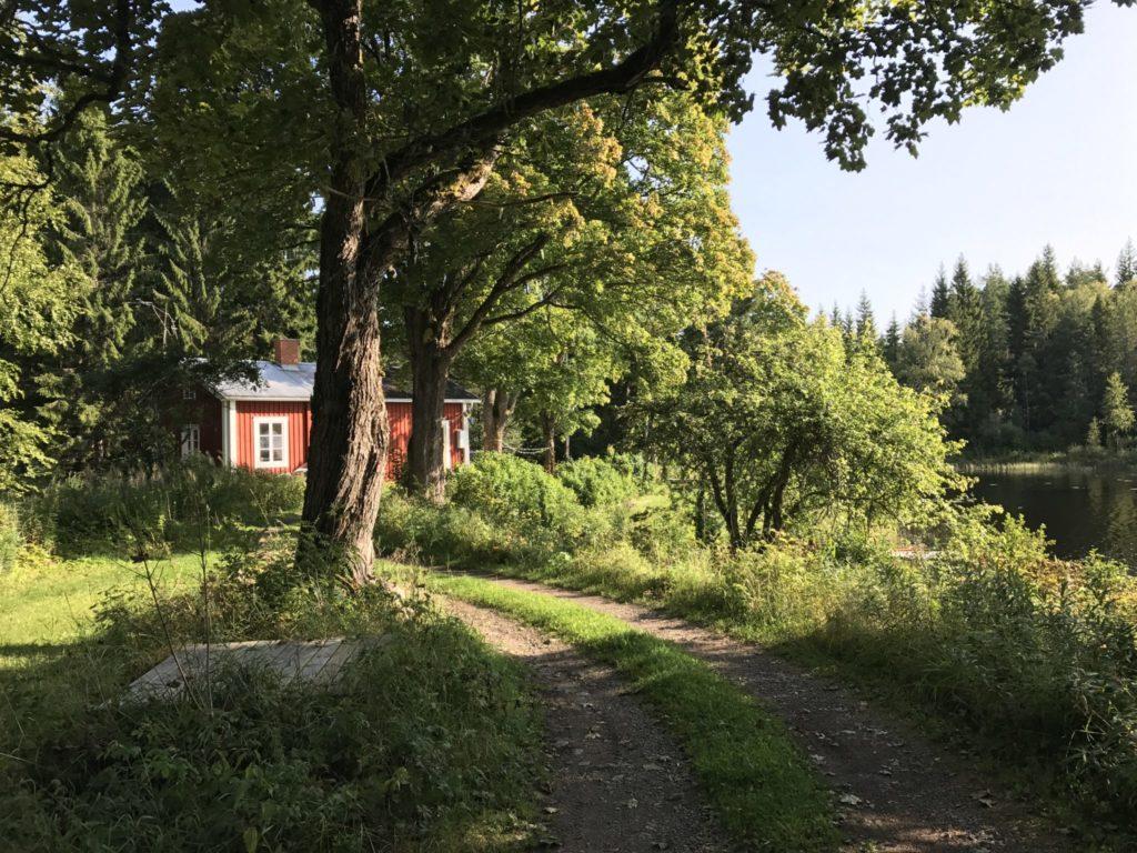 Schweden, Haus, See, rot, Wald, Urlaub