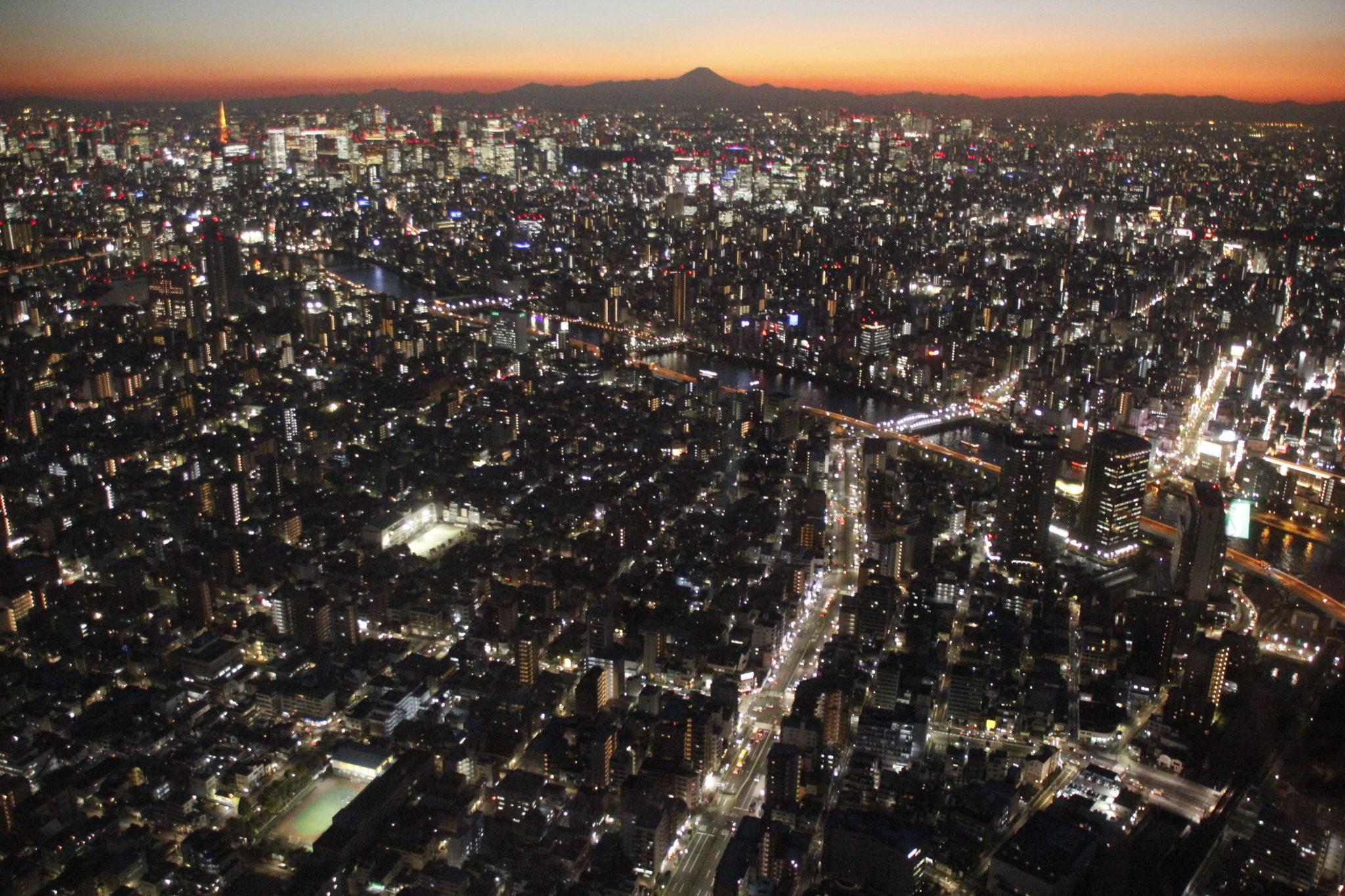 Skytree, Tokyo bei Nacht, Skytree, Japan